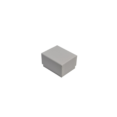 Rigid Cardboard Standard Small Jewellery Box for Rings, Earrings, Pendants or Hoops - Matt White (with removable black/white reversable suede foam ins