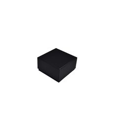 Rigid Cardboard Standard Deep Jewellery Box suitable for watches/cuff bracelet - Matt Black (with removable non reversable white suede foam insert)