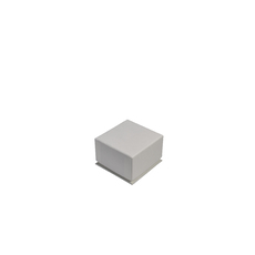 Rigid Linen Small Jewellery Box for Rings, Earrings, Pendants or Hoops - White (with removable black/white reversable leatherette foam insert)