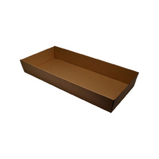 Brown Catering Tray 80mm High - Large with optional lid (Lid Sold Separately)