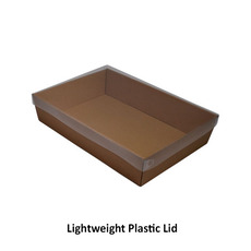 Brown Catering Tray 80mm High - Medium with optional lid (Lid Sold Separately)