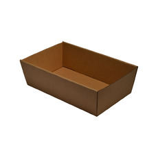 Brown Catering Tray 80mm High - Small with optional lid (Lid Sold Separately)