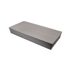 White Catering Tray 80mm High - Large with optional lid (Lid Sold Separately)