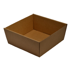 Brown Square Catering Tray  80mm High - Small with optional lid (Lid Sold Separately)