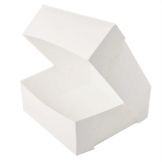10 x 10 x 5 Inch Paperboard Cake Box - 500UM (100PK)