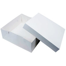 15 x 15 x 4 Inch Paperboard Cake Box - 600UM (50PK) Base & Lid