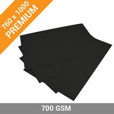 Premium Black Backing Board (Double Sided) 700 x 1000mm - 700GSM