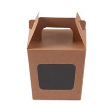 WAS $1.51 - ON SALE NOW $1.17 Party Boxes with Window Corf 2 - Kraft Brown (Limited Stock)