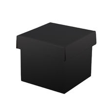 Mini Gift Box Base & Lid - Budget Black Gloss