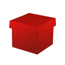 Mini Gift Box Base & Lid - Budget Red Gloss
