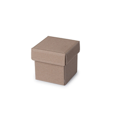 Natural Corrugated Kraft Base & Lid - Tiny Gift Box - Kraft Brown