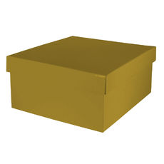 Large Hamper Box Base & Lid - Gloss Gold