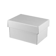 Mug Box Base & Lid - Budget White Gloss