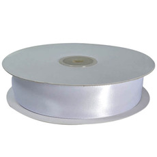 TEMP OUT OF STOCK - Satin Ribbon (23mm x 90metres) - White Gift Wrapping & Decoration