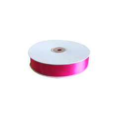 Satin Ribbon (25mm x 45metres) - Fuschia/Dark Pink Gift Wrapping & Decoration
