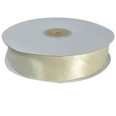 Satin Ribbon (25mm x 45metres) - Ivory Gift Wrapping & Decoration