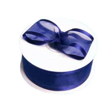 Satin Edge Organza Ribbon 38mm x 22metres - Royal Blue Gift Wrapping & Decoration
