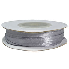 Satin Ribbon (3mm x 22metres) - Silver Gift Wrapping & Decoration