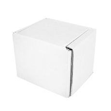 One Piece Postage Box 60mm Cube - Kraft White (White Inside)