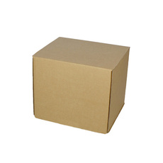 One Piece Box 100mm Cube - Kraft Brown (Brown Inside)