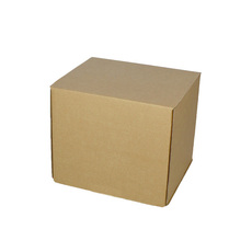 One Piece Box 80mm Cube - Kraft Brown