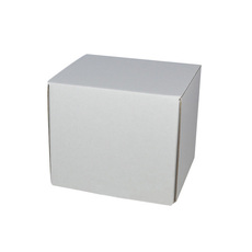 One Piece Postage Box 80mm Cube - Kraft White (White Inside)