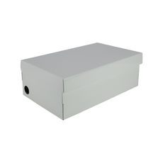One Piece Shoe Box with Ventilation Pull Hole - Premium Gloss White (White Inside)