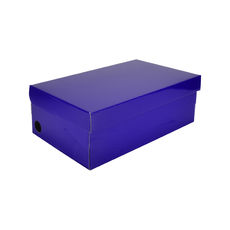 One Piece Shoe Box with Ventilation Pull Hole - Premium Gloss Purple (White Inside)
