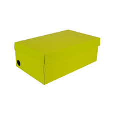 One Piece Shoe Box with Ventilation Pull Hole - Premium Gloss Yellow (White Inside)