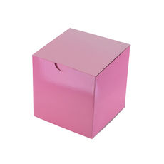 Candle Box 100mm Cube - Premium Gloss Baby Pink