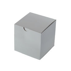 Candle Box 100mm Cube - Premium Gloss White (White Inside)
