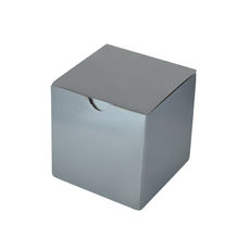 Candle Box 100mm Cube - Premium Matt Silver (White Inside)