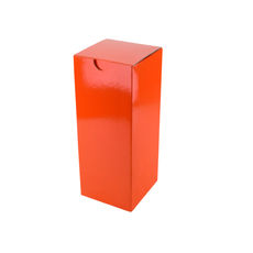 Candle Box 120/170mm - Premium Gloss Orange (White Inside)