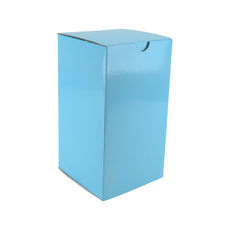 Candle Box 120/220mm - Premium Gloss Baby Blue (White Inside)