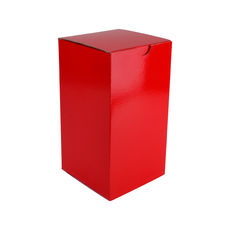 Candle Box 120/220mm - Premium Gloss Red (White Inside)