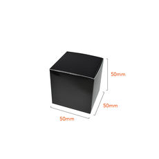 One Piece Cube Box 50mm - Gloss Black  - Paperboard