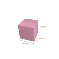 One Piece Cube Box 50mm - Matt Pink  - Paperboard