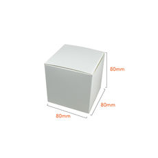 One Piece Cube Box 80mm - Budget White (White Inside)