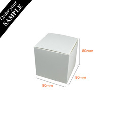 SAMPLE - One Piece Cube Box 80mm - Smooth White