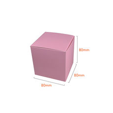 One Piece Cube Box 80mm - Matt Pink  - Paperboard