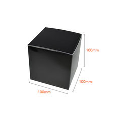 One Piece Cube Box 100mm - Gloss Black (White Inside)