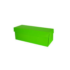 Single Wine Pack Gift Box Base & Lid - Premium Gloss Lime Green (White Inside)