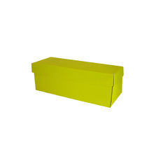 Single Wine Pack Gift Box Base & Lid - Premium Gloss Yellow (White Inside)