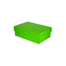 Double Wine Pack Gift Box Base & Lid - Premium Gloss Lime Green WITH REMOVABLE INSERT