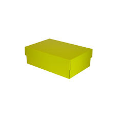 Double Wine Pack Gift Box Base & Lid - Premium Gloss Yellow - Optional insert available (sold separately) (White Inside)