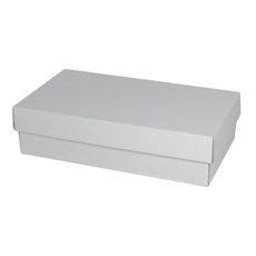 Double Wine Pack Gift Box Base & Lid - Kraft White  WITH REMOVABLE WINE INSERT