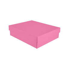 Triple Rectangle Gift Box Base & Lid - Premium Matt Baby Pink