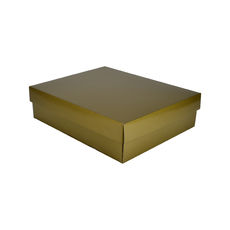 Triple Wine Pack Gift Box  - Premium Gloss Gold - Optional insert available (sold separately) (White Inside)