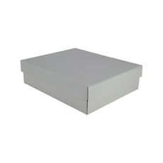 Triple Rectangle Gift Box Base & Lid - Premium Gloss White