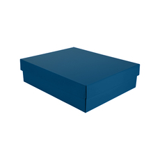 Triple Wine Pack Gift Box Base & Lid - Premium Matt Navy Blue WITH REMOVABLE INSERT